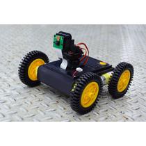 Chasis Robot Movil Para Raspberry Con Soporte Para Camara