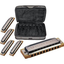 Set Kit Armonica Hohner Harmonicas Blues Harp Hm4
