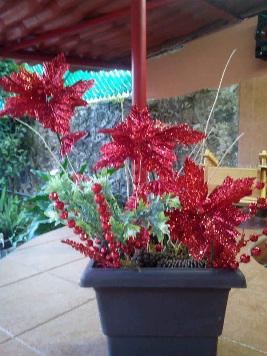 Centro de mesa navideno descipcion arreglo de flores - Centros de mesas navidenos ...