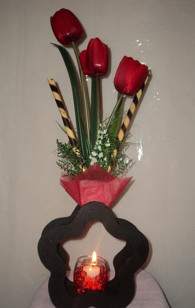 Ramo tulipanes arreglos florales para boda centros mesa for Arreglos para mesa para boda