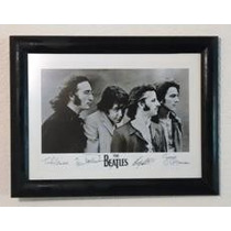 The Beatles - Cuadro 40 X 53 Cm / Cristal Anti-reflejante