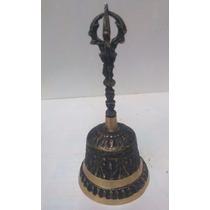 Campana Tibetana Bronce/mano/metales/meditar/alterna/armoni8