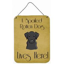 Labrador Negro Perro Estropeado Vive Aquí En La Pared O Pue