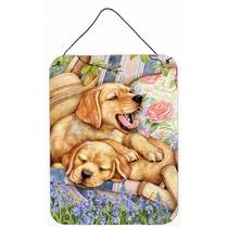 Los Cachorros De Labrador Amarillo Cubierta De Pared O Puert