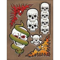 Cráneo Plantilla De Piel - Patrón Skulls Craftaid Diseño