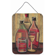 Botellas Y Vasos De Vino En La Pared O Puerta Colgando Impre