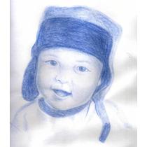 Dibujos A Lapiz, Color Y Oleo, Retratos Bbf