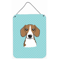 Tablero De Ajedrez Azul Beagle Pared O Puerta Colgando Impre