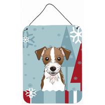 Vacaciones De Invierno De Jack Russell Terrier Pared O Puert