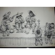 Dibujo De Indígenas Tocando Instrumentos Musicales