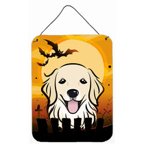 Golden Retriever De Halloween En La Pared O Puerta Colgando