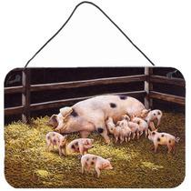 Cerdos Lechones En La Cena Tiempo Pared O Puerta Colgando Im