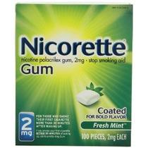 Nicorette Nicotina Gum Fresh Mint 2 Miligramos Dejar De Fuma