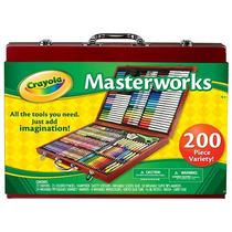 Crayola 200 Piezas Caso Del Arte De Las Obras Maestras