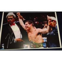 Poster Autografiado Firmado Julio Cesar Chavez Box Boxeo