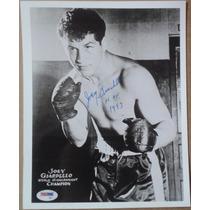 Fotografia Autografiada Firmada Joey Giardello Box Boxeo