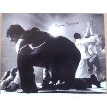 Fotografia Autografiada Firmada Carmen Basilio Box Boxeo