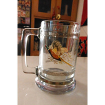 Tarro Faisan Princess House Clear Glass Beer Mug Stein 1970s