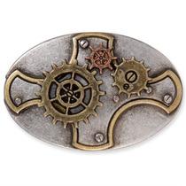 Concho - Placa Gear Antiguo Níquel Leathercraft Diseño