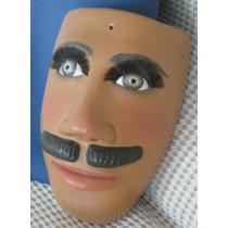 Máscara Tallada En Aglomerado Madera Decorativa