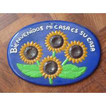 Artesanía De Barro Letrero De Bienvenida: Mi Casa Es Su Casa
