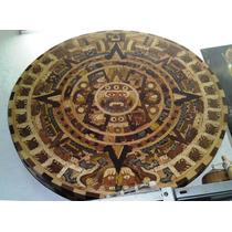 Calendario Sol Azteca Artesanal De Madera - Cuadro Decora