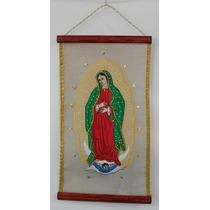 Pergamino De La Virgen De Guadalupe 100% Bordado Para Regalo