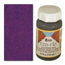 Cuero Tinte - Eco-flo 4 Oz De Color Violeta Oscuro Color