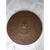 Calendario Azteca Elaborado En Cobre Grande 60 Cm Diametro
