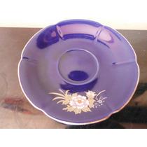Plato Floral Oriental Porcelana Azul Japon Souvenir Vintage