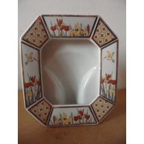 Portaretrato De Porcelana Japon Souvenir Colibri Floral