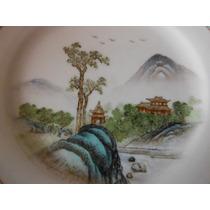 Precioso Plato Oriental Porcelana Fina De Jingdezhen China