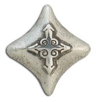 Diamond Concho - Placa De Plata Antigua De Tandy Leather Cra
