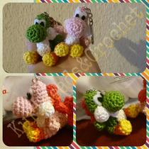 Yoshi Amigurumi Tejida A Crochet Llavero