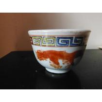 Vaso Porcelana Oriental Dragon Y Fenix China Souvenir Te