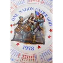 Plato Porcelana One Nation Under God Retro Vintage 1978