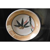 Plato Porcelana Fina Atiguo Japon Retro Vintage Bambu