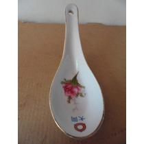Cuchara Floral Oriental Porcelana Tradicional China Vintage