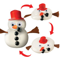 Nuevo Toysmith Fusión Frosty Snowman - Se Acumula Y Se Derr