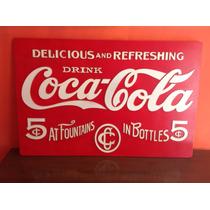 Letrero De Coca Cola Mdf