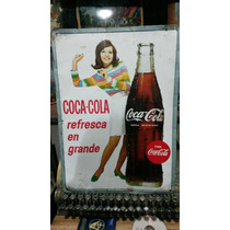 Anuncio Antiguo Lámima Coca-cola/dama