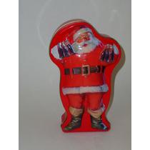 Coca-cola Caja Lata Navideña De Lámina Santa Claus