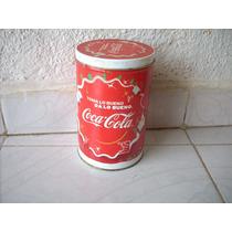 Antiguo Bote De Lamina Coca Cola Toma Lo Bueno Coleccion