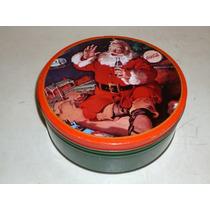 Coca-cola Caja Lata Galletas Santa Navideña Colección 1986