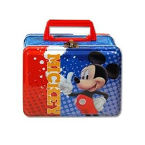 1 X Box Lunch - Disney - Mickey Mouse - Lata Metal Case W /