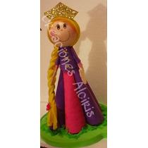 Fofucha Centro De Mesa Cumpleaños Fiesta Rapunzel Disney
