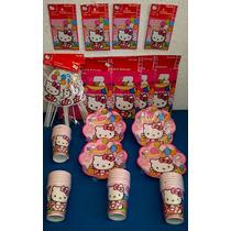 Paquete Plus De Fiesta Hello Kitty, Desechables Fiesta