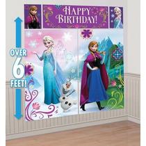 Fiesta Frozen Elsa Mural Escenario Gigante 2x2 Mtrs