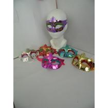 Antifaz Con Brillo Para Fiesta Temática Paquete 10 Pzas $59