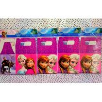 4 Cajas Para Dulces De Carton De Frozen, Desechables Fiesta